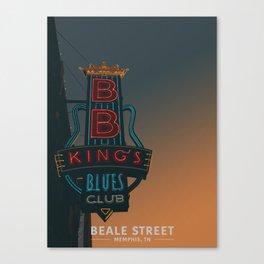 Beale Street, Memphis Canvas Print