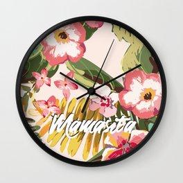 Tropical Palm Paradise // Mamasita Wall Clock