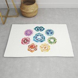 Yoga Art, Chakra, Namaste Wall Art, 8 Chakras Rug
