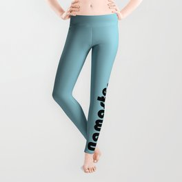 Namaste in blue. Leggings