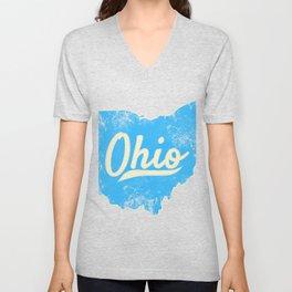 Ohio Gift I Love My Ohio Home Cleveland Cincinnati Akron OH Unisex V-Neck