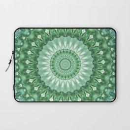 Emerald Green Mandala Laptop Sleeve