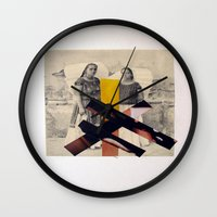 sisters Wall Clocks featuring Sisters by Mimi Rico