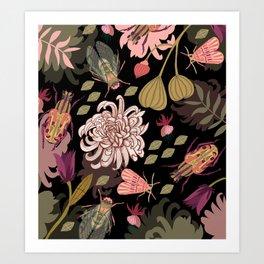 Boho Bugs Art Print
