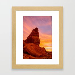 Balanced Rock Sunrise - Valley of Fire Framed Art Print