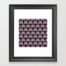 Blue & Peach Daisies Framed Art Print