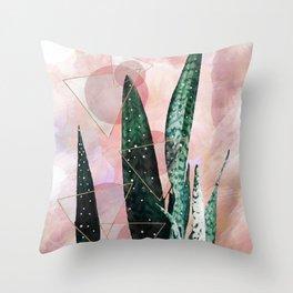 Plant circles & triangles Throw Pillow