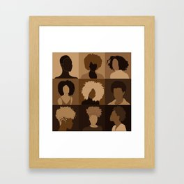 FOR BROWN GIRLS COLLECTION COLLAGE Framed Art Print