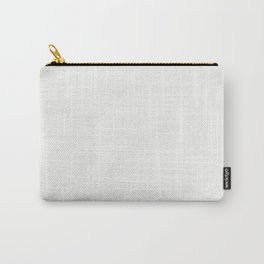 Neutral Off White Solid Color Parable to Ultra White 7006-24 by Valspar Carry-All Pouch