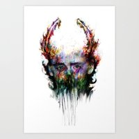 loki Art Prints featuring loki by ururuty