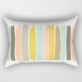 Madison - Brushstroke art print in modern colors bright and happy gifts for trendy girls Rectangular Pillow