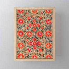 Kermina Suzani Uzbekistan Print Framed Mini Art Print
