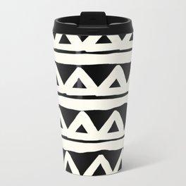 Tribal Chevron Stripes Metal Travel Mug