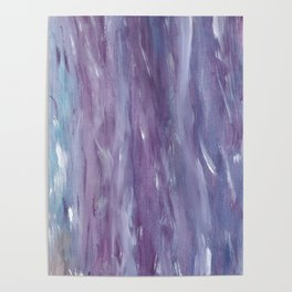 Touching Purple Blue Watercolor Abstract #1 #painting #decor #art #society6 Poster