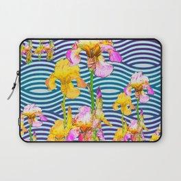 Colorful Iris Water Garden Art Pattern Laptop Sleeve
