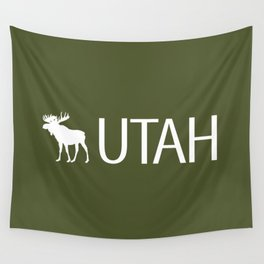 Utah: Moose (Mountain Green) Wall Tapestry