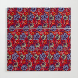Red and blue Wood Wall Art