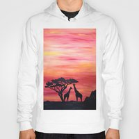 africa Hoodies featuring Africa by Monica Georg-Buller