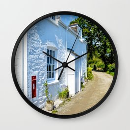 Mylor Walk - Cottage with Post Box Wall Clock