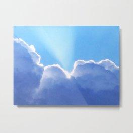 Cloud Light Burst Metal Print