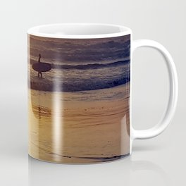 Pismo Beach Surfer in the Sunset Coffee Mug