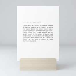 St Patrick's Breastplate #prayer #minimalist Mini Art Print