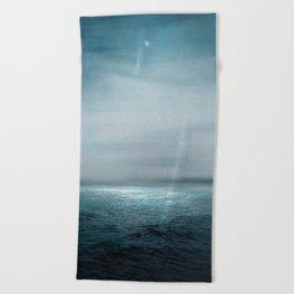 Sea Under Moonlight Beach Towel
