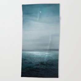 Sea Under Moonlight Beach Towel