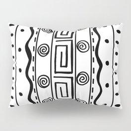 Tribal Doodle Earth Rocks Mountians Pillow Sham