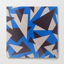 Triangles Esthetic Geometric Pattern  Metal Print