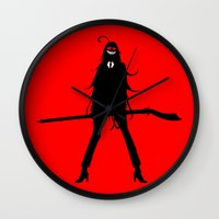 kuroshitsuji Wall Clocks featuring Black Butler Grell Sutcliff by Prince Of Darkness