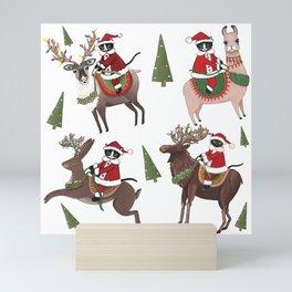 Santa Cats Mini Art Print