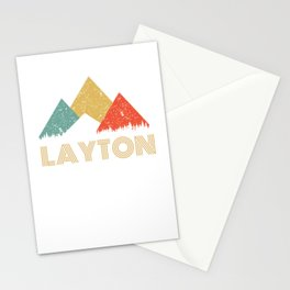 Retro City of Layton Mountain Shirt Stationery Cards