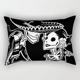 ZAPATEADO ON BLACK Rectangular Pillow