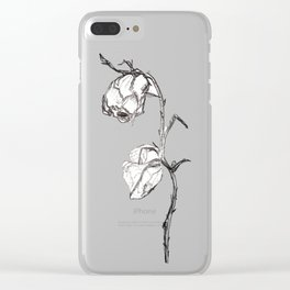 Dead Wilting Rose Clear iPhone Case