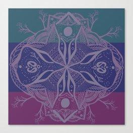 Mandala Drawing Canvas Print