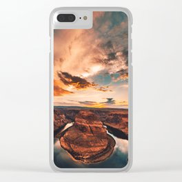 horse shoe bend canyon Clear iPhone Case