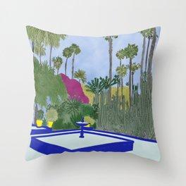 Majorelle Garden, Marrakech Throw Pillow