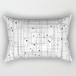 Black and white geometric abstract pattern Rectangular Pillow