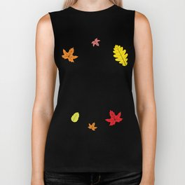 Autumn shows us how beautiful it is to let things go Biker Tank