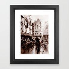 Parisian crowd Framed Art Print