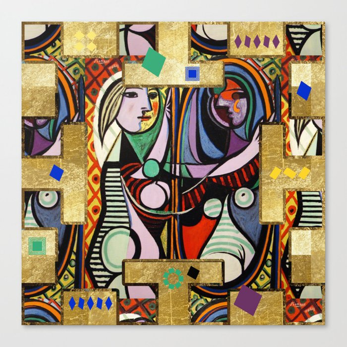 picasso collage canvas print by lalachandra society6