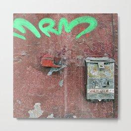 Grungy Mailbox Metal Print