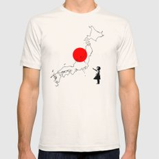 Japanese girl balloon Natural LARGE Mens Fitted Tee