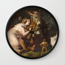 Scene from A Midsummer Night's Dream. Titania and Bottom by Edwin Henry Landseer (1848) Wall Clock