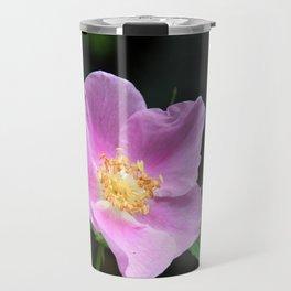 Pale Pink Wild Rose Travel Mug