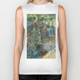 Camille Pissarro - The Apple Picking Biker Tank