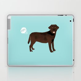 Chocolate Lab funny fart dog breed gifts labrador retrievers Laptop & iPad Skin