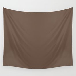 Rich Cocoa (Brown) Color Wall Tapestry