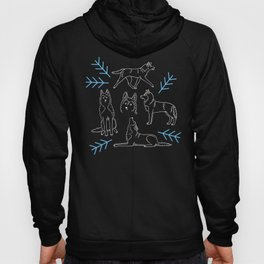 Siberian Husky Pattern (Blue-Gray) Hoody